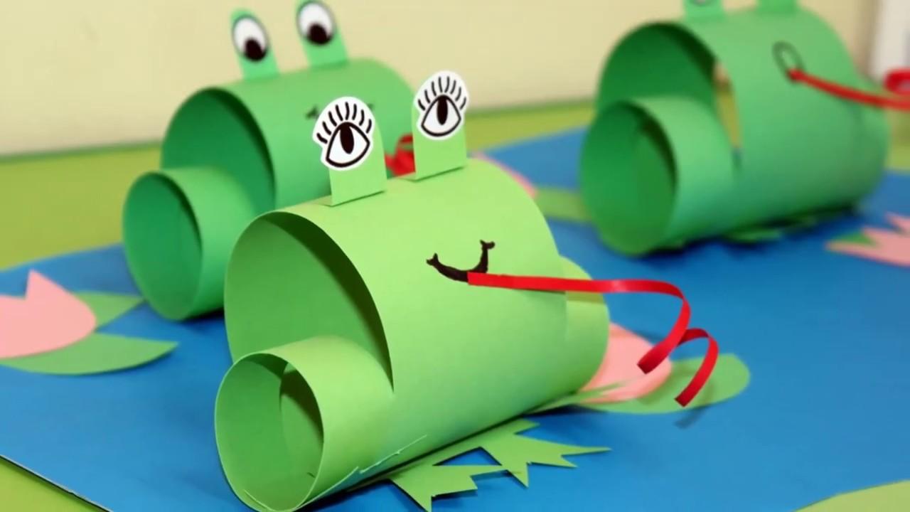 Papierowa żaba / żaba z papieru / zabawa z dzieckiem/ paper frog ...