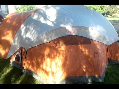 Coleman bayside 8 man tent & Coleman bayside 8 man tent - YouTube