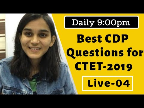 Best CDP Questions for CTET-2019   Live-04