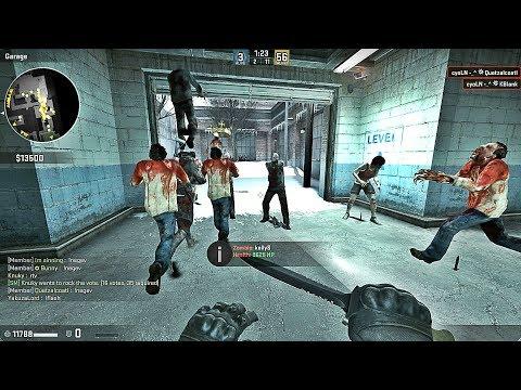 CS:GO - Zombie Survival Mod 2018 Gameplay On Cs_office Map