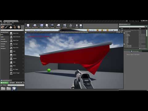Unreal Engine 4 布料柔軟材質