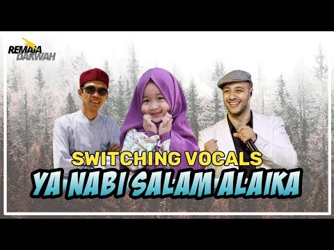 YA NABI SALAM ALAIKA - AISHWA NAHLA Feat. UAS & MAHER ZAIN [Switching Vocals + Lyrics]