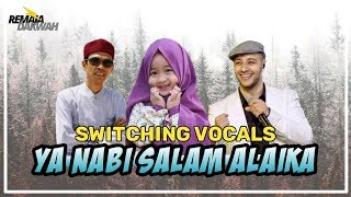 YA NABI SALAM ALAIKA - AISHWA NAHLA feat. UAS & MAHER ZAIN [Switching Vocals + Lyrics]