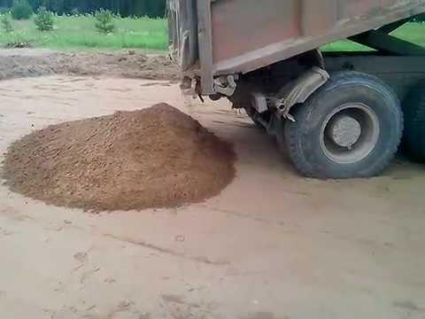 Маз с песком