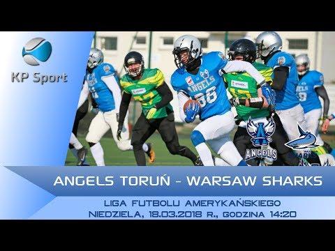 Angels Toruń - Warsaw Sharks / LIVE / Liga Futbolu Amerykańskiego [18.03.2018]