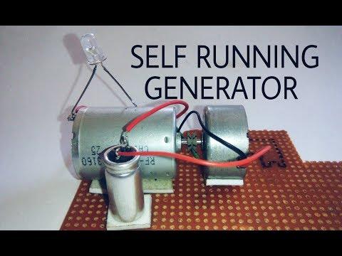 Free energy self running generator using dc motor and capacitor. thumbnail