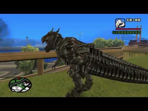 Transformers mod GTA SA Dinobots