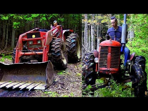 Powerful vs Agile / Which Logging Tractor is Best?- Log Cabin Update- Ep 10.7