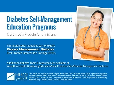 Diabetes Self-Management Education Programs Clinician Module