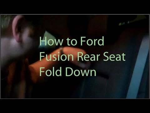 How To Fold Down Rear Seats Ford Fusion
