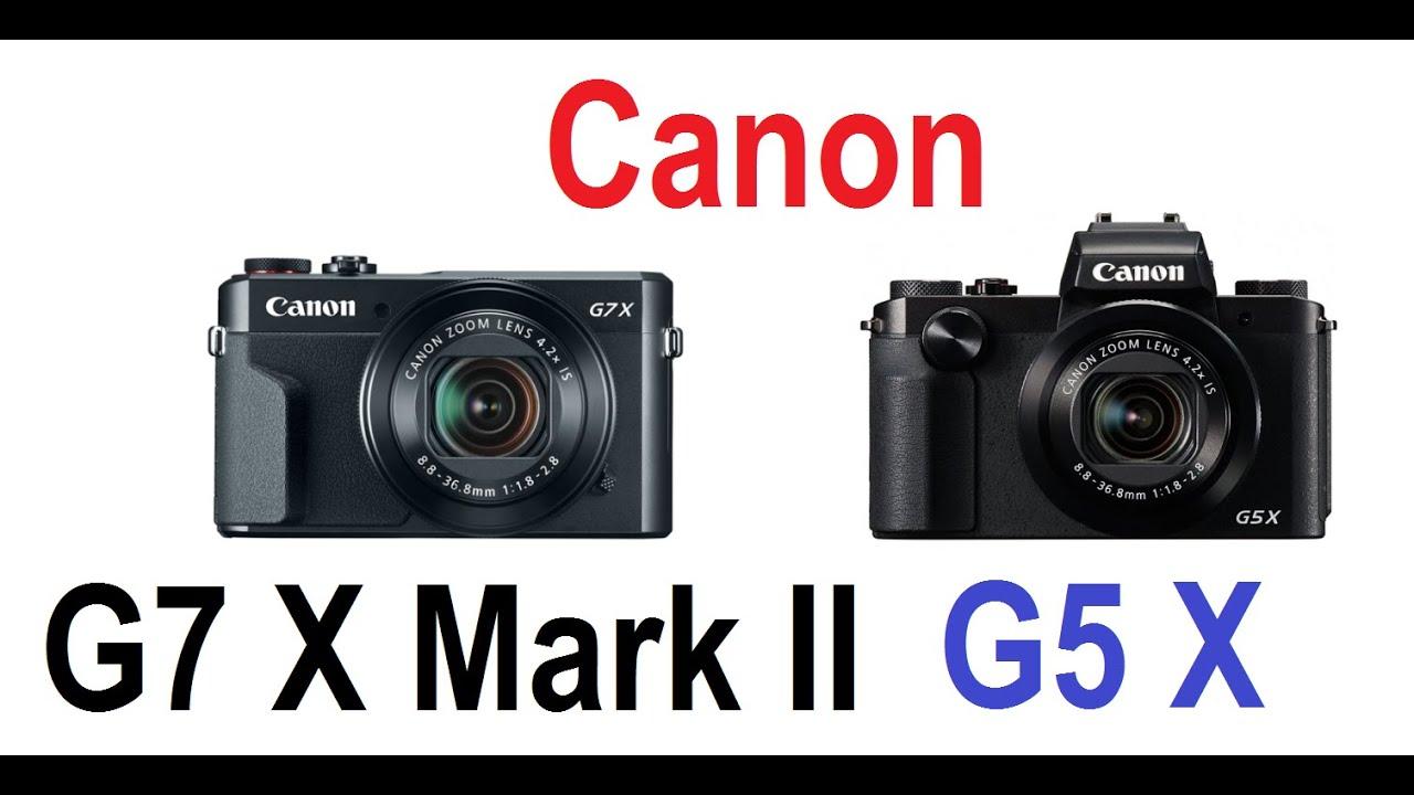 canon powershot g7 x mark ii vs powershot g5 x youtube. Black Bedroom Furniture Sets. Home Design Ideas