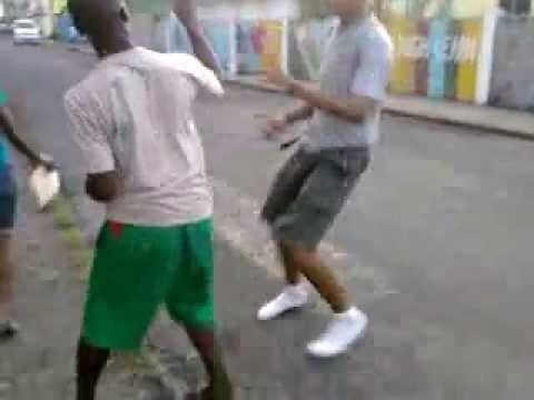 Dominica Street Fight in Portsmouth - 2p4c vs Matthew Part 2