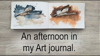 An afternoon with my art journal