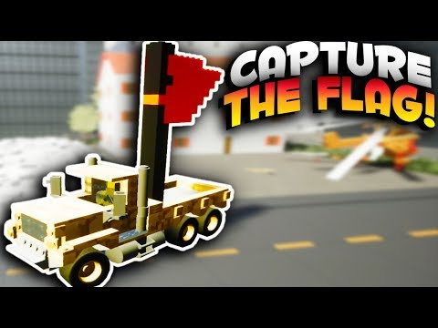 Brick Rigs Game | CAPTURE THE FLAG CHALLENGE! GUNS & FLAGS! | Brick Rigs Multiplayer Online Gameplay