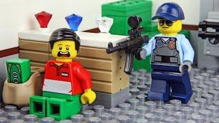 Lego Movie - Лего мультик   преступник украл золото!   Полицейский участок Lego ч.2