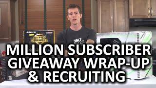 1 Million Subscriber Giveaway Winner Announcement & Recruiting Season