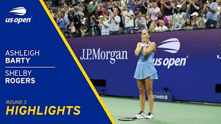 Ashleigh Barty vs Shelby Rogers Highlights
