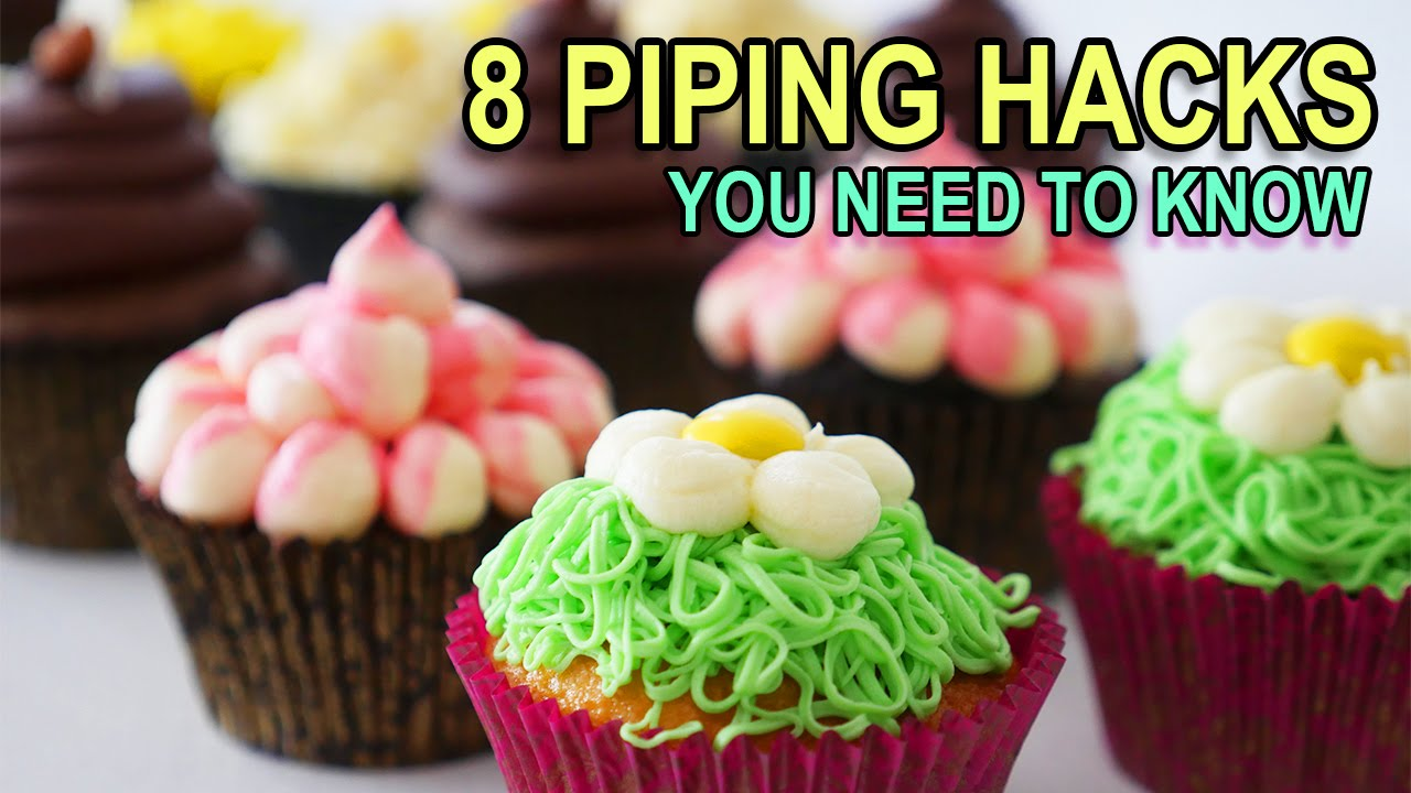 Cake Decorating Tips To Make Grass : 8 PIPING BAG HACKS YOU NEED TO KNOW Ann Reardon baking ...