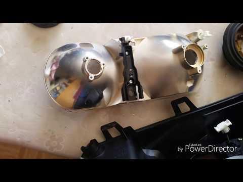 BMW E39 замена и ремонт регулировочных элементов, корректоров  фары.