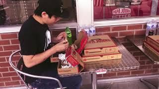 Papa John's Pizza Eating Challenge
