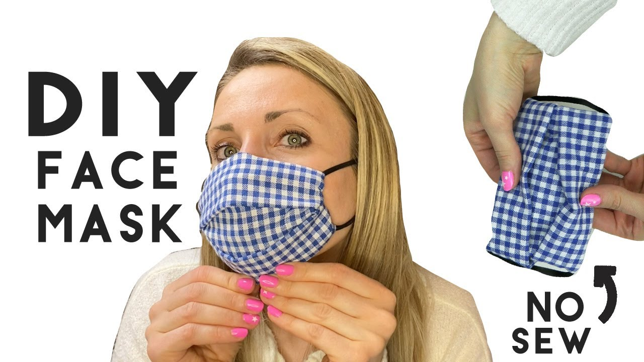 DIY Face Mask No Sew Method Video Tutorial EASY with Hair Ties BANDANA  STYLE