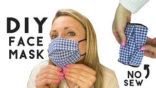 DIY Face Mask No Sew Method Video Tutorial! EASY with Hair Ties BANDANA STYLE