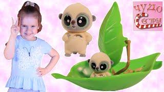 Забавный обзор игрушки YooHoo & Friends на лодочке из зеленых листочков.