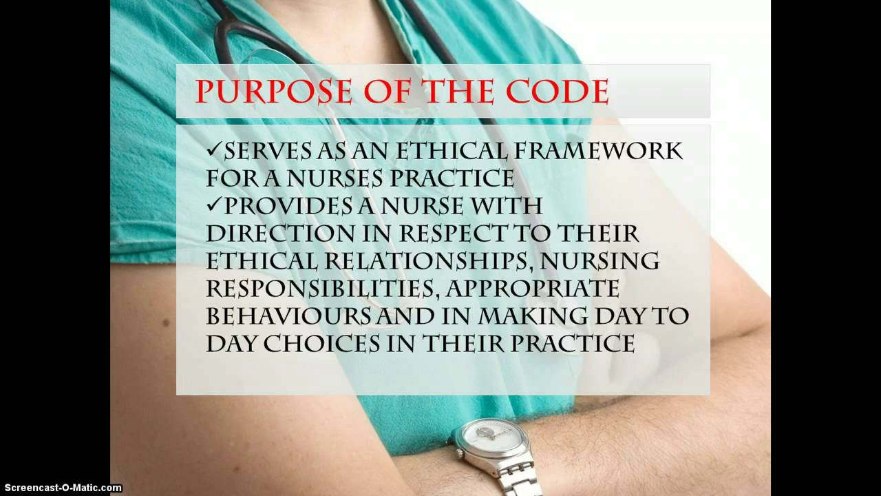 code of ethics for nurses Ethics in professional nursing practice  code of ethics for nurses with interpretive statements) the code is nonnegotiable with regard to nursing practice.