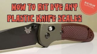 How to Rit dye plastic knife scales.