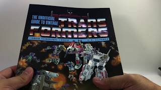 Video Review: The Unofficial Guide To Vintage Transformers by J.E. Alvarez