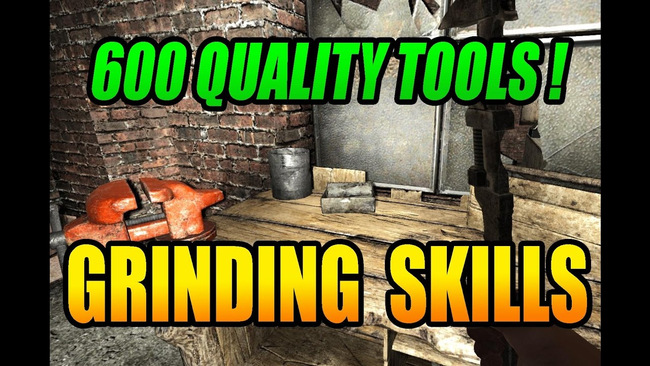 7 Days To Die Grinding Skills 600 Quality Tools Weapons Youtube