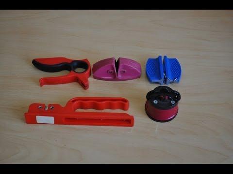 Как точить нож точилкой с колесиками