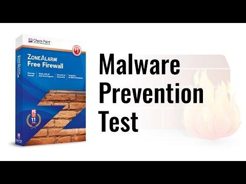 Zone Alarm Free Firewall Malware Prevention Test