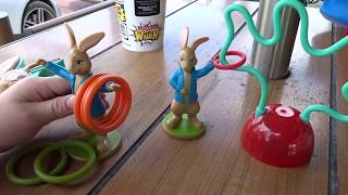 McDonald's Happy Meal with Peter Rabbit Toys, plus 3 Gumball Toys!
