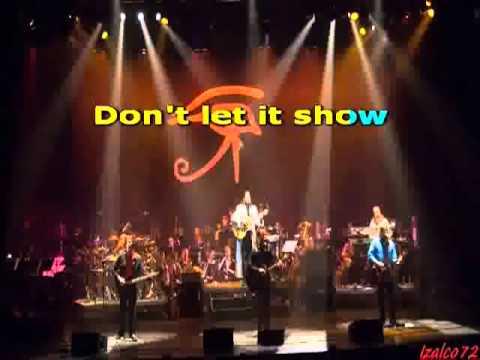 Alan Parsons Project - Don't Let It Show (Karaoke)