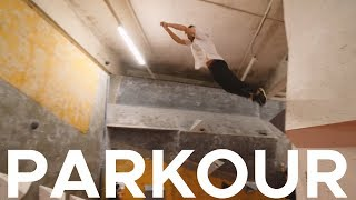 PARKOUR in deserted CLIMBING GYM!