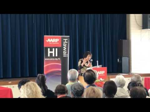 Rep. Colleen Hanabusa speaks to AARP on 2/24/17