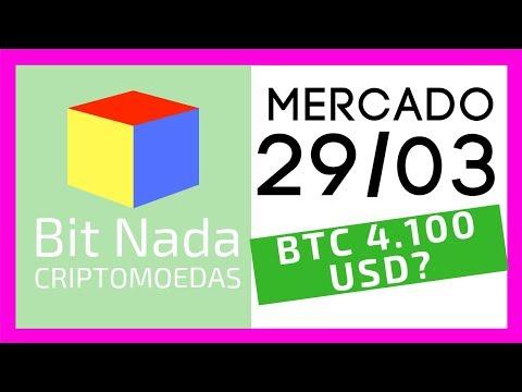 Mercado de Cripto! 29/03 BITCOIN 4.100?? / XRP