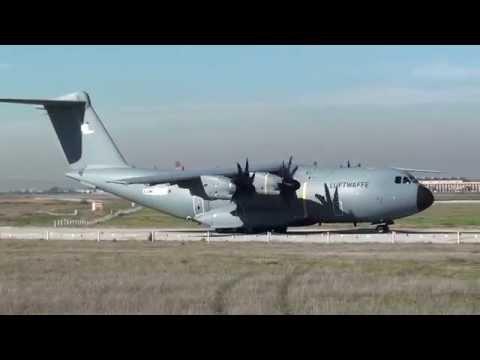 Luftwaffe Airbus A400M Atlas A4M030 Take Off Seville LEZL
