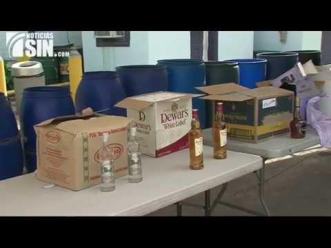 Aduanas destruye mercancías falsificadas utilizadas para contrabando