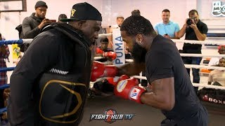ADRIEN BRONER UNLEASHES BRUTAL POWER COMBINATIONS TO THE BODY AHEAD OF PACQUIAO FIGHT
