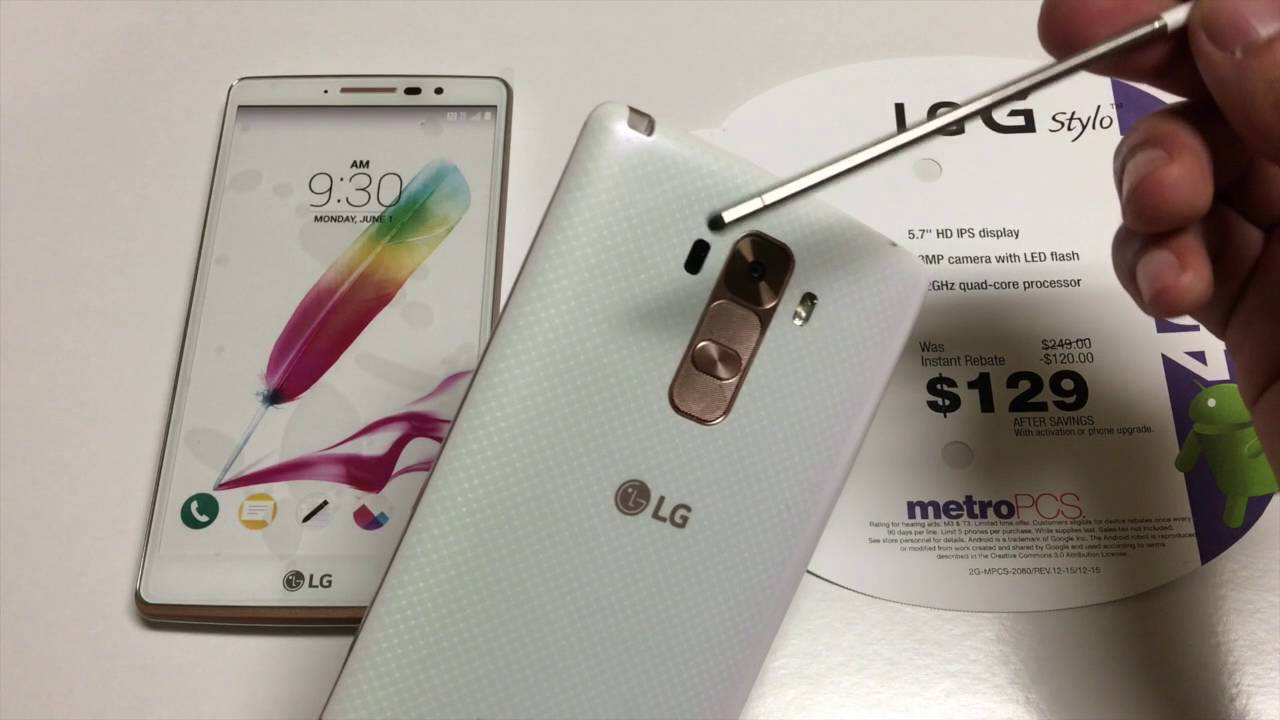 LG Stylo Pearl White Rose Gold Edition UNBOXING T-Mobile/Metro pcs