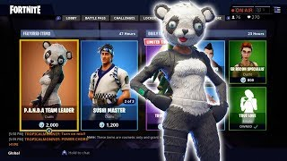 *NEW* P.A.N.D.A Team Leader and Sushi Master skin!!! - Fortnite Item Shop!