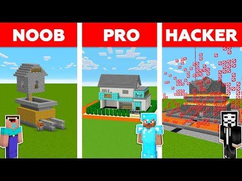Minecraft NOOB vs PRO vs HACKER : Mob Proof House in minecraft / Animation