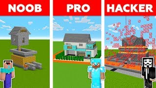 Minecraft NOOB vs PRO vs HACKER : Mob Proof House in minecraft / Animation