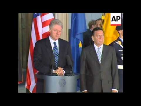 GERMANY: US PRESIDENT CLINTON VISIT (2)