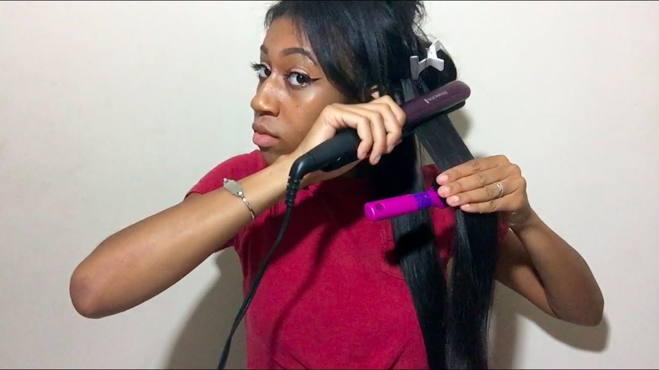 HOW TO GET YOUR WEAVE BONE STRAIGHT// FT. UNICE BODY WAVE