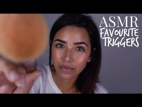 ASMR Lily Whispers ASMR's Favorite Triggers (Mouth sounds, face brushing, hair brushing, lids...+)