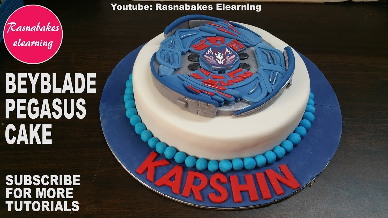 How To Make Fondant Beyblade Pegasus Cake Design Happy Birthday Cake