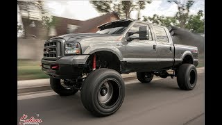 HUGE REDNECK 2003 F250 10 inch lift with 40s made to out run any truck!